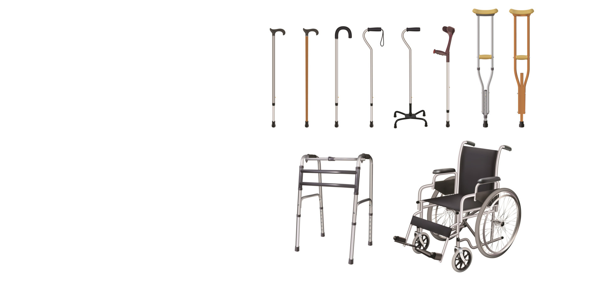 Set of special medical auxiliary